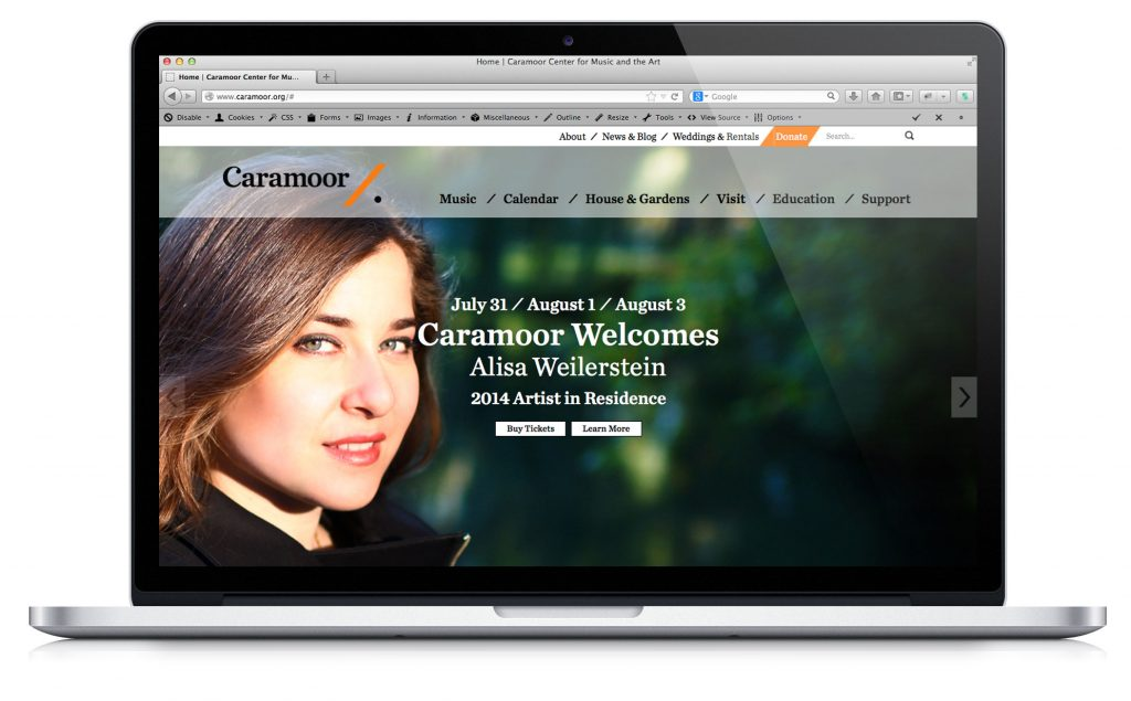 Caramoor.org Screen Shot