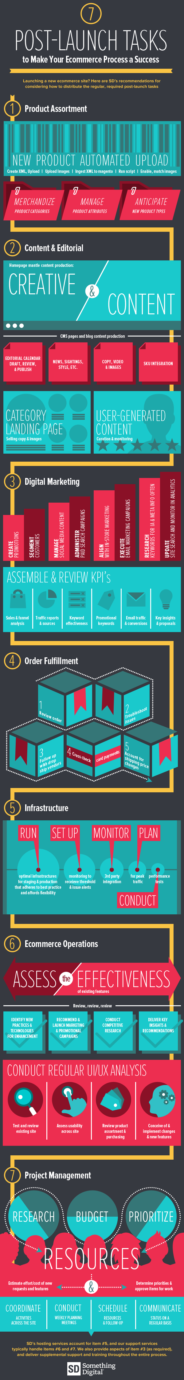 Infographic Post Launch Tasks