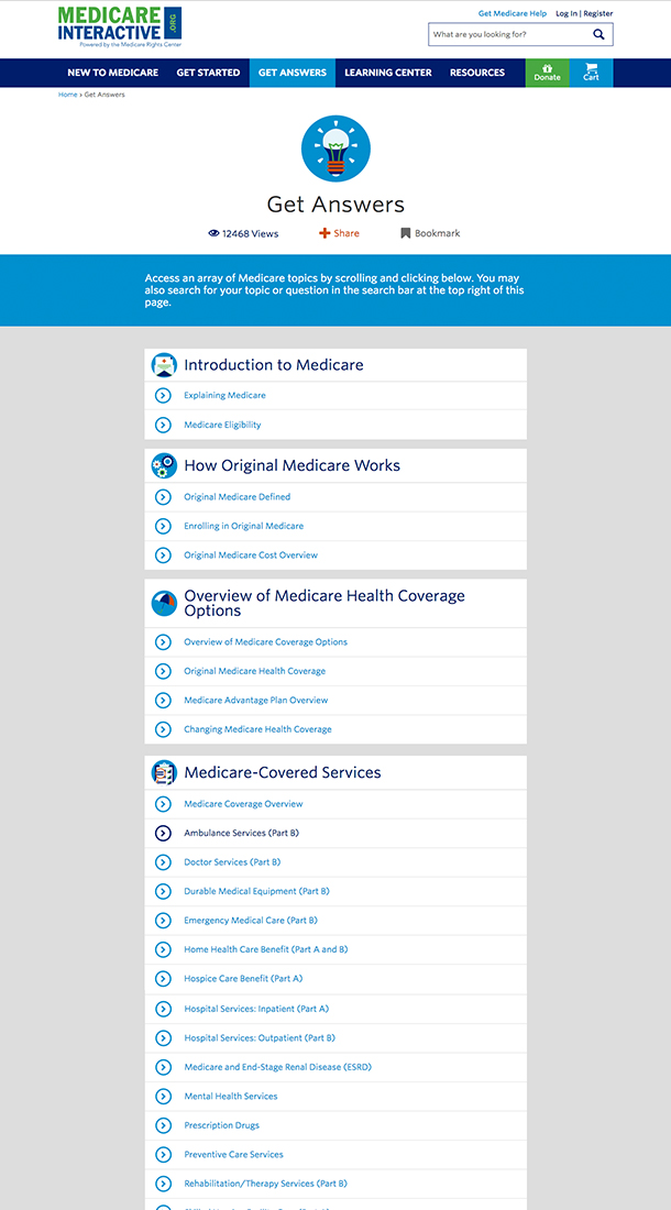 Medicare Interactive Category