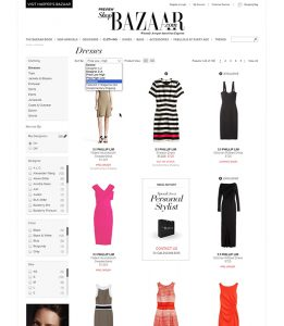 Shop Bazaar Category Page