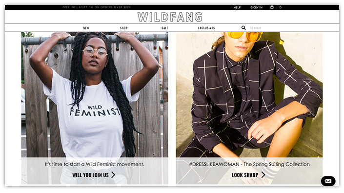 WildFang.com Homepage