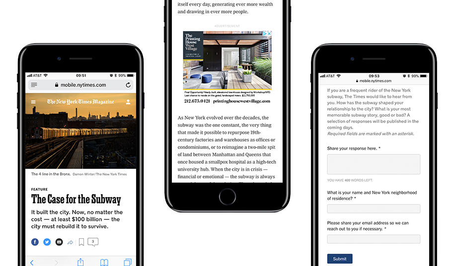 Mobile Visual Examples of NYT Article