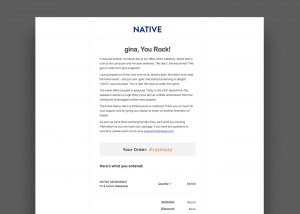 Native Email Example