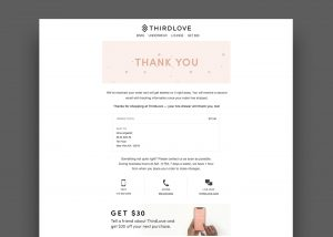 Third Love Email Example