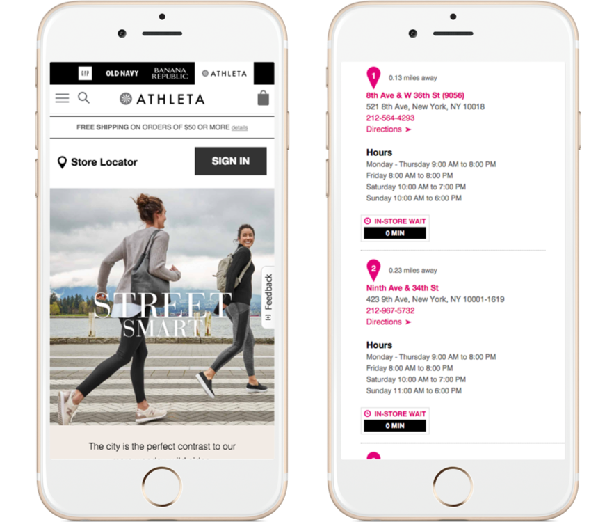 Examples of mobile UX - location information