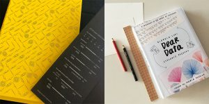 EYEO notebook and 'Dear Data' book cover